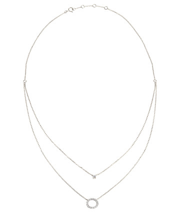 Eva Layered Circle Necklace