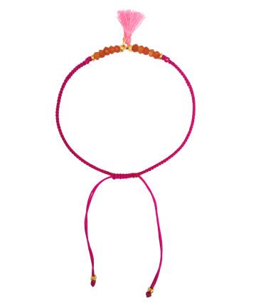 Gemstone & Tassel Bracelet
